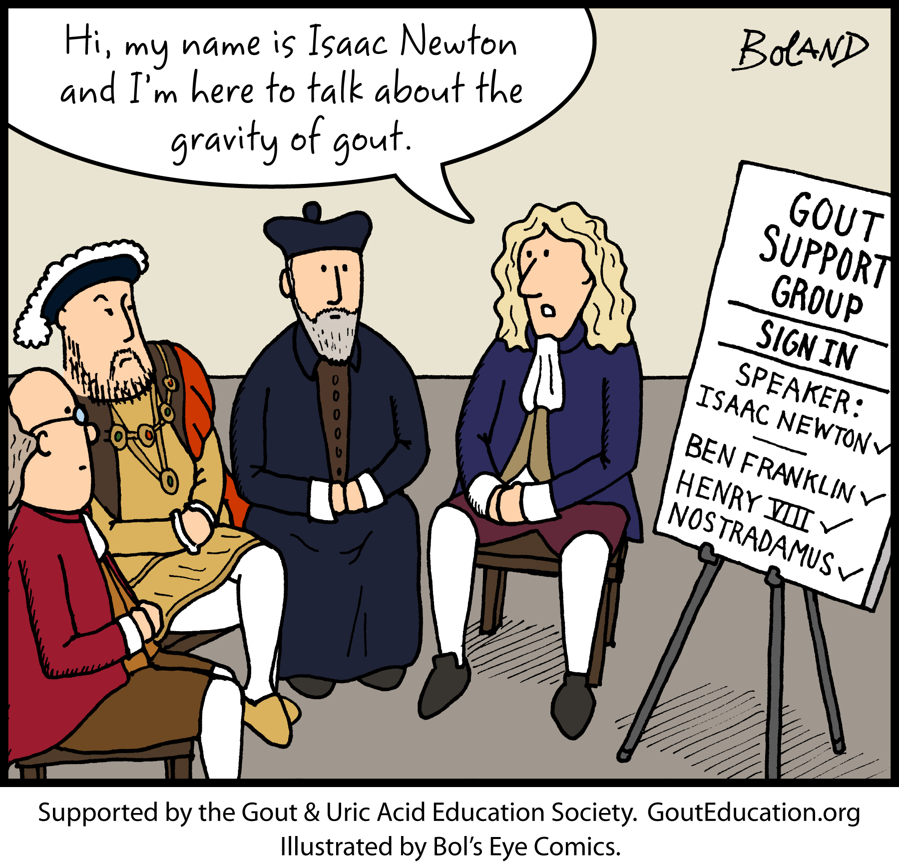 May The Fourth Be With You Cartoon: Gout Education Society