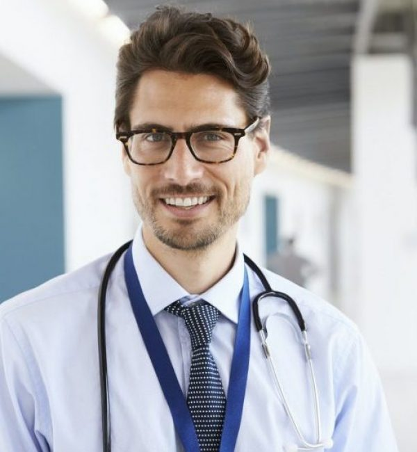 Portrait of a gout doctor with stethoscope